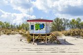 Beach Hut With Grafity In Koserow