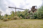 picture of sand gravel  - Abandoned Industrial Gravel Quarry and Sand Stone Refinery - JPG