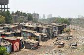 Ramshackle huts in Mumbai's slum Dharavi