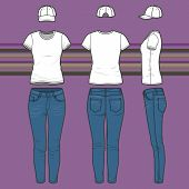 T-shirt, Cap And Jeans Set