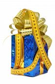Blue gift and measure tape