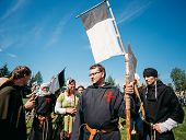 Warriors Participants Of Vi Festival Of Medieval Culture