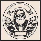 Santa Claus Vintage Poster. Vector