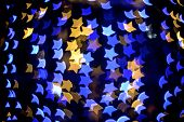 Multicolour Bokeh Star Shape
