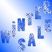 Illustration Of Words Winter Sale