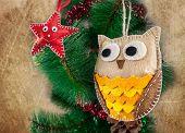 Felt Owl And Star Toys