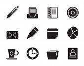 Silhouette Office & Business Icons