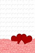 Постер, плакат: Red Pink And White Hearts Background