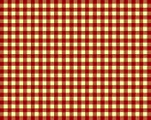 picture of mustering  - Tablecloth Background Pattern checked with colors red and yellow - JPG