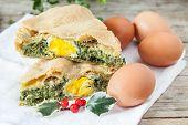 Chard Eggs Pie