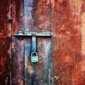 Padlock On Door