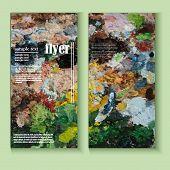 Flyer Template Paint Palette Art
