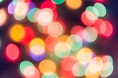 Colorful Circles Of Bokeh Light Abstract