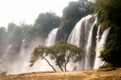foto of waterfalls  - Ban Gioc Waterfall on the Quy Xuan River is located in Cao Bang Province - JPG