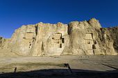 stock photo of xerxes  - The tombs of Persian kings Naqsh - JPG