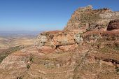 stock photo of ethiopia  - Landscape in Tigray province close to Adigrat - JPG
