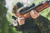 stock photo of trooper  - hunting - JPG