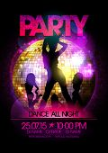 pic of  dancer  - Dance party poster with go - JPG