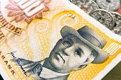 foto of compose  - Danish money with portrait of August Nielsen composer - JPG