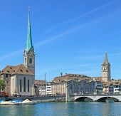 stock photo of zurich  - Landmarks of Zurich - JPG