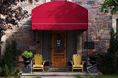 Doorway With Red Awning