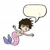 picture of mermaid  - cartoon mermaid with speech bubble - JPG