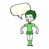 stock photo of undead  - cartoon halloween undead woman - JPG