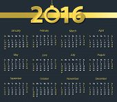 pic of blue-bell  - 2016 calendar with hanging bell on dark blue background - JPG