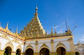 picture of buddha  - The Mahamuni Pagoda in Mandalay Myanmar is a major pilgrimage site containing a Buddha image said to hold the likeness of the historical Buddha - JPG