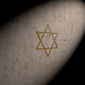 pic of covenant  - stylized image Star of David made on the stone wall - JPG