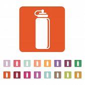 image of bottle water  - The sports water bottle icon - JPG