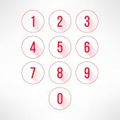 picture of numbers counting  - Numbers in circles set in modern flat design - JPG