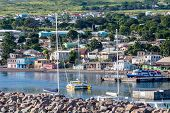 stock photo of off-shore  - Boats off the beautiful coast of St Kitts - JPG