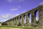 stock photo of aqueduct  - Agua de Prata Aqueduct  - JPG