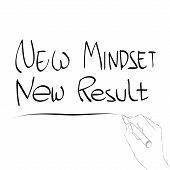 picture of idealistic  - vector illustration of new mindset new result - JPG