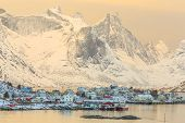 foto of reining  - Reine in winter  - JPG