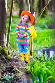 picture of wild adventure  - Child playing outdoors - JPG