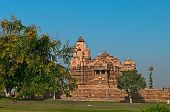 stock photo of khajuraho  - Chitragupta temple - JPG