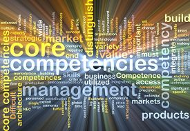 picture of competing  - Background text pattern concept wordcloud illustration of core competencies glowing light - JPG