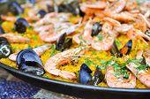 Spanish Paella Close Up