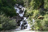 Redoubt Bay Waterfall
