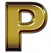 gold upper case P