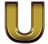 gold upper case U