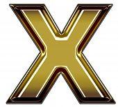 gold upper case X