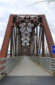 Caminando el puente en Fredericton