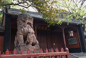 the shishi of the wuhou temple