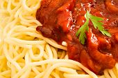 Parsley Herb On Spaghetti With Sauce poster