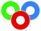 Gear Icon, Gear Symbol For Maintenance, Repair Or Development Concept poster