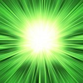 Green light burst - abstract background