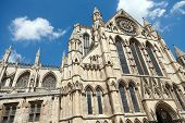 York Minster is a Gothic cathedral in York, England and is the second largest of its kind in Norther